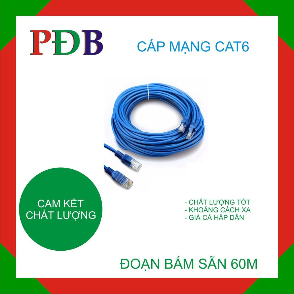 Đoạn dây mạng Captain Cat6 60m (xanh)