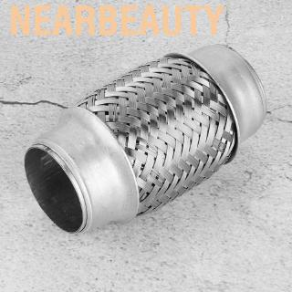 Senyar Exhaust Pipe,1.5 x 4 Durable Stainless Steel SS Double Braided Flex Pipe Exhaust Adaptor Piping