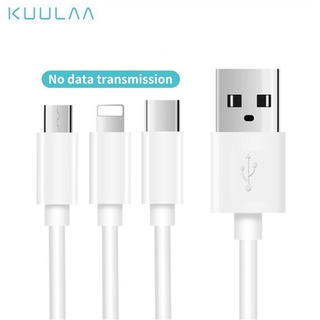 Hình ảnh KUULAA Android IPhone charging cable 30cm Micro Type-c Lightning
