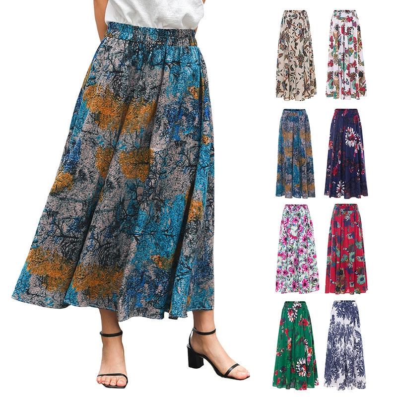 Chân váy hoạ tiết hoa phong cách Bohomian