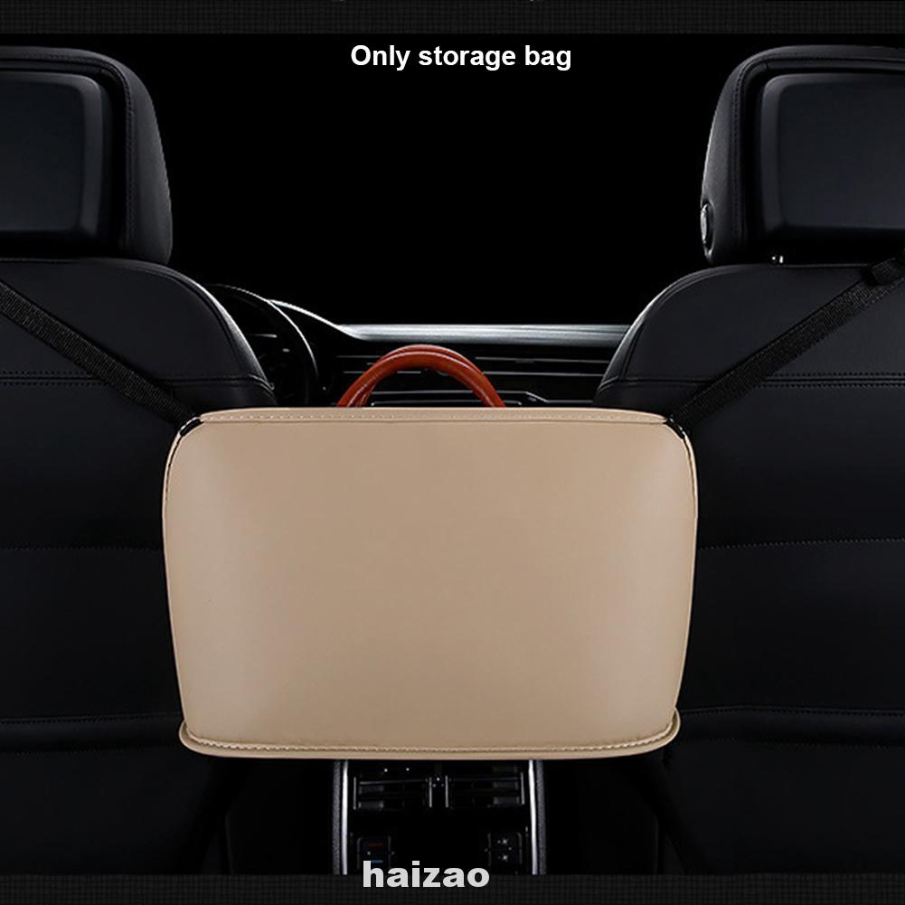 Multifunction Universal Accessories Hanging PU Leather Interior Easy Install Car Seat Back Storage Bag