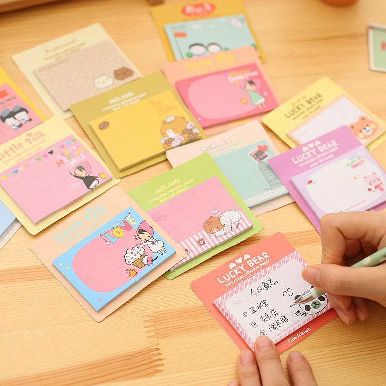 Giấy note/giấy ghi chú dễ thương