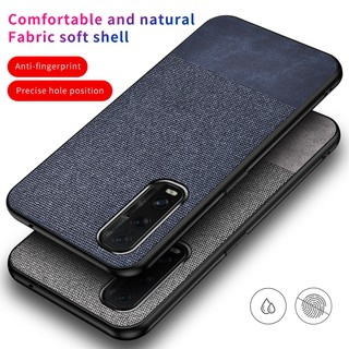 Hình ảnh Oppo Find X2 Pro Reno 2 Z 2Z 2F 10X Leather Spliced Fabric Thin Phone Case Shockproof Casing Matte Protection Soft Shell Cover