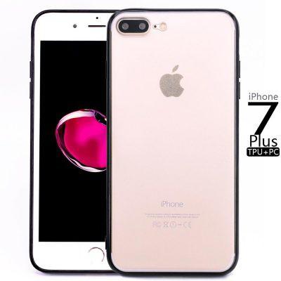 Ốp Lưng iPhone 7 Plus/8 Plus Viền Màu Trong Suốt Chống trầy