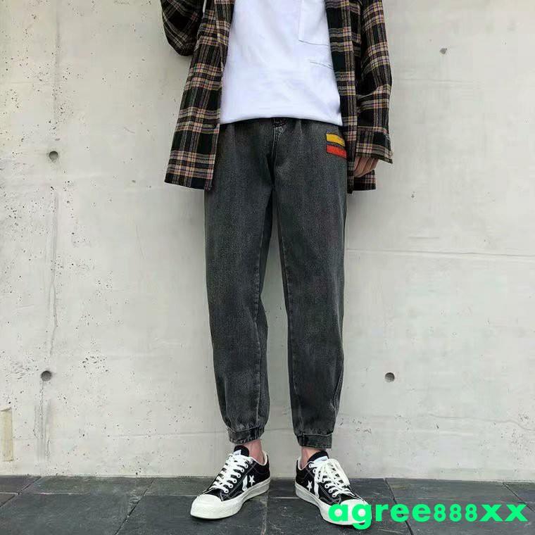 Quần Jeans Lưng Thun Thời Trang Năng Động Cho Nam