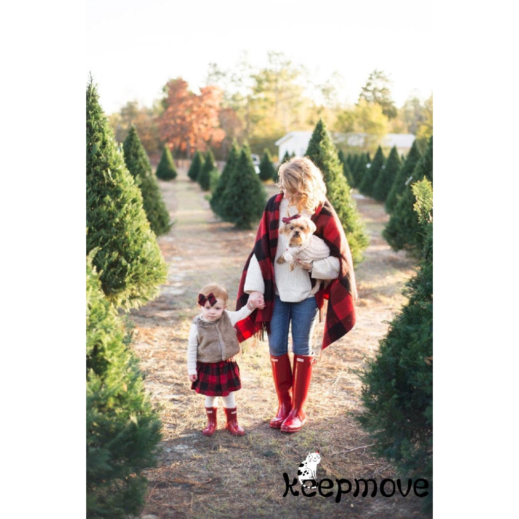 Set áo thun tay dài + Chân váy xòe chủ đề Giáng sinh cho bé gái