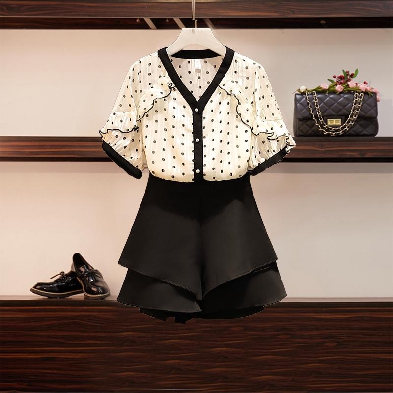 Bộ Áo Tay Phồng + Chân Váy Xinh Xắn Dành Cho Nữ