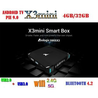 Hình ảnh Android X3 MINI, Android TV 9.0, CPU S905X3, RAM 4GB, eMMC 32GB, Dual Band WiFi MU-MIMO, Bluetooth 4.2, LAN 100MB