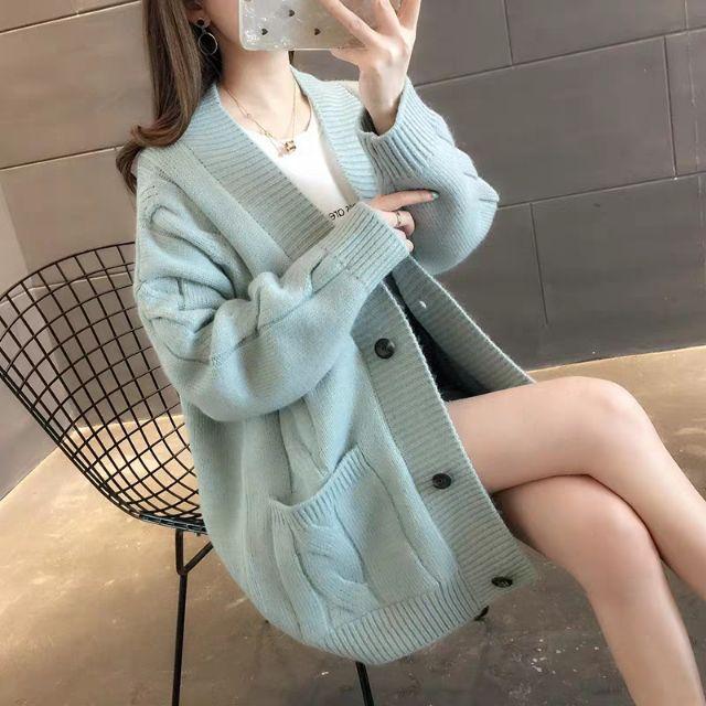 [Oder] áo khoác len nữ dáng Hàn Quốc