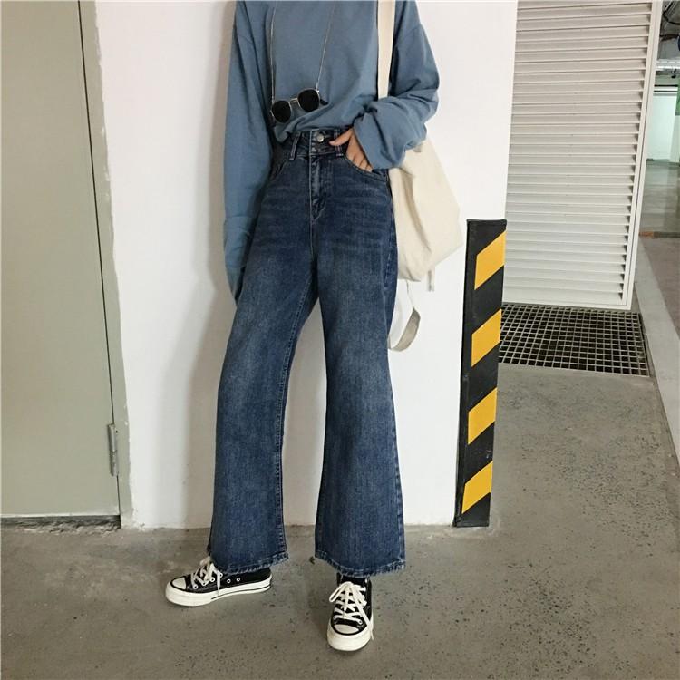 Quần Jeans cạp cao ống loe chất chơi - có ảnh thật