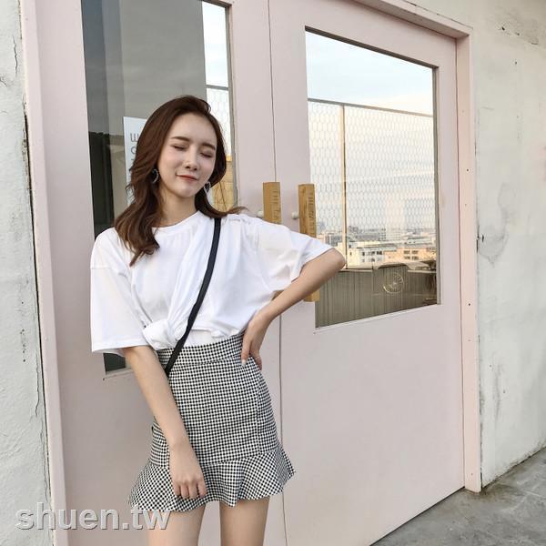 Chân Váy Đuôi Cá Họa Tiết Caro Thời Trang Mùa Hè Hàn Quốc Cho Nữ