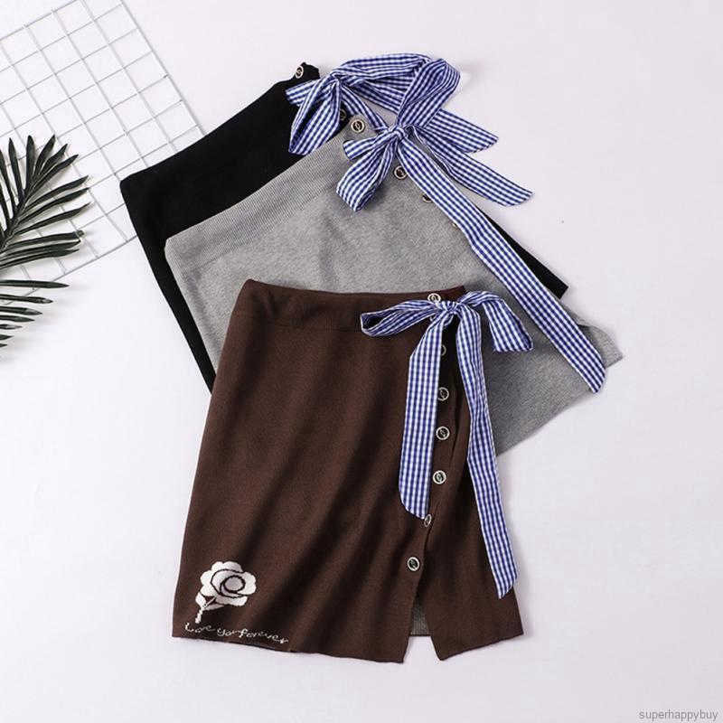 Chân váy dệt kim dáng chữ A thiết kế xẻ quyến rũ