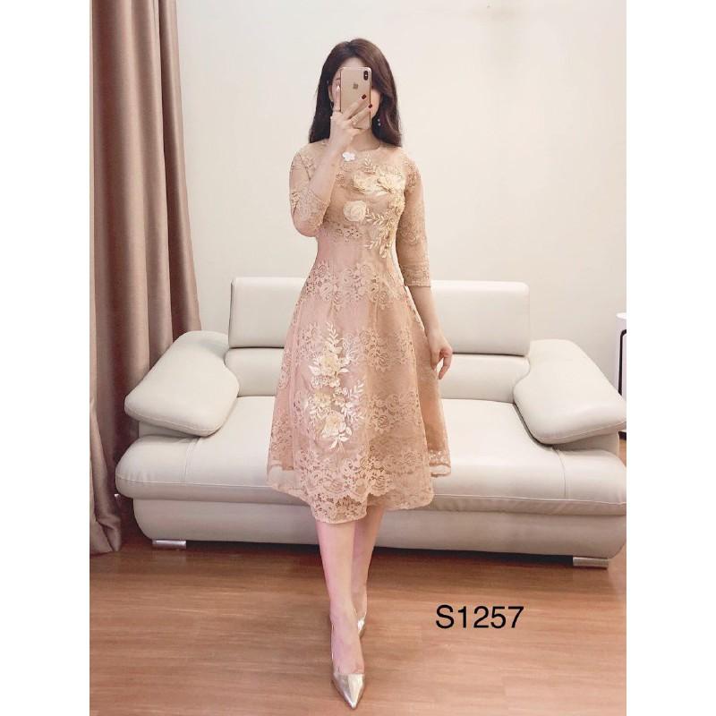 [ẢNH THẬT] Set áo dài cách tân S1257 đính hoa tỉ mỉ Mía's boutique