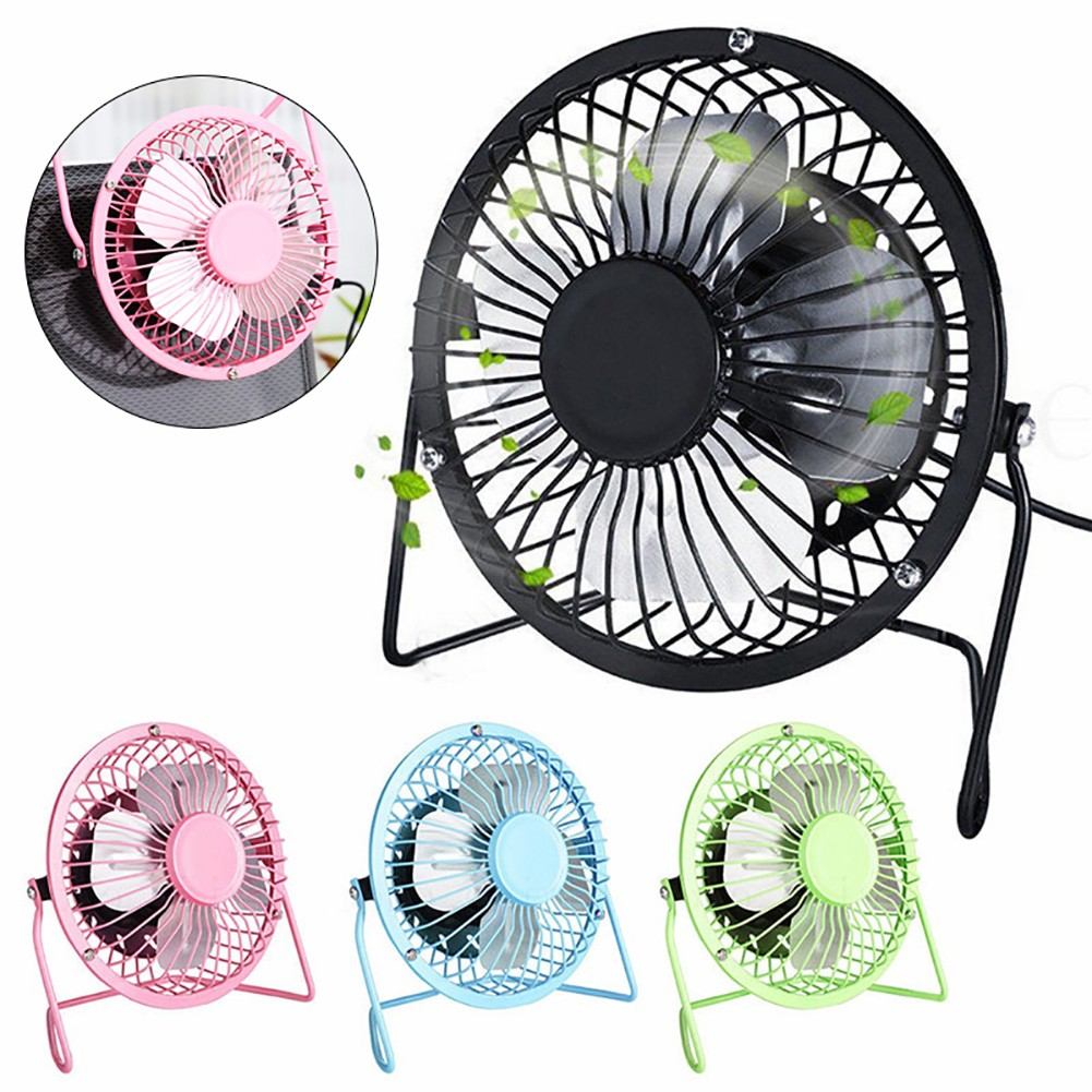 Hình ảnh 【VIP】4 inch Portable USB Charged Metal Mute Table Cooling Fan Home Office Air Cooler
