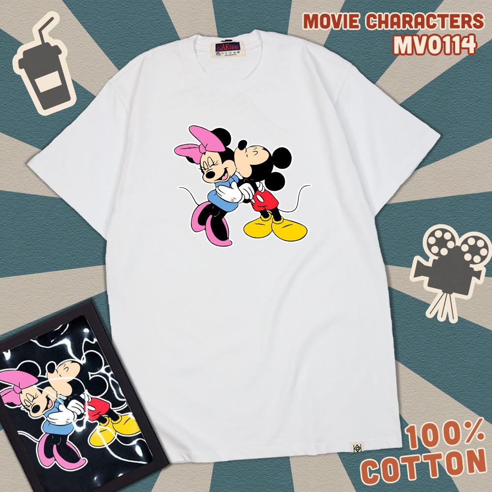 Áo thun in hình chuột Mickey kiss , áo thun Unisex nam nữ - Thiết Kế độc quyền KAK