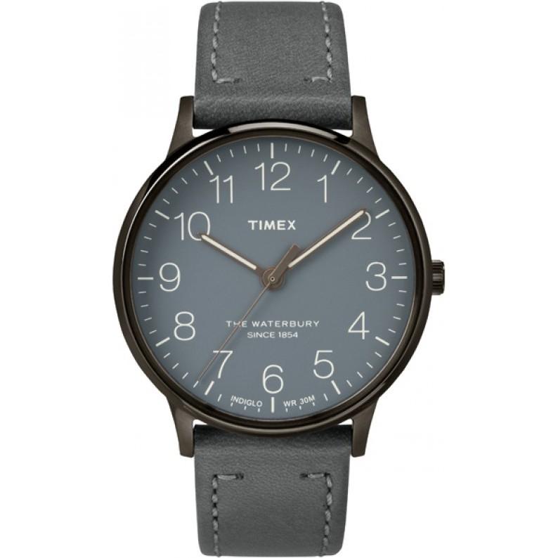 [Mã WTCHMALLTET hoàn 100k xu đơn 499K] Đồng hồ nam Timex The Waterbury TW2P96000 Dây da
