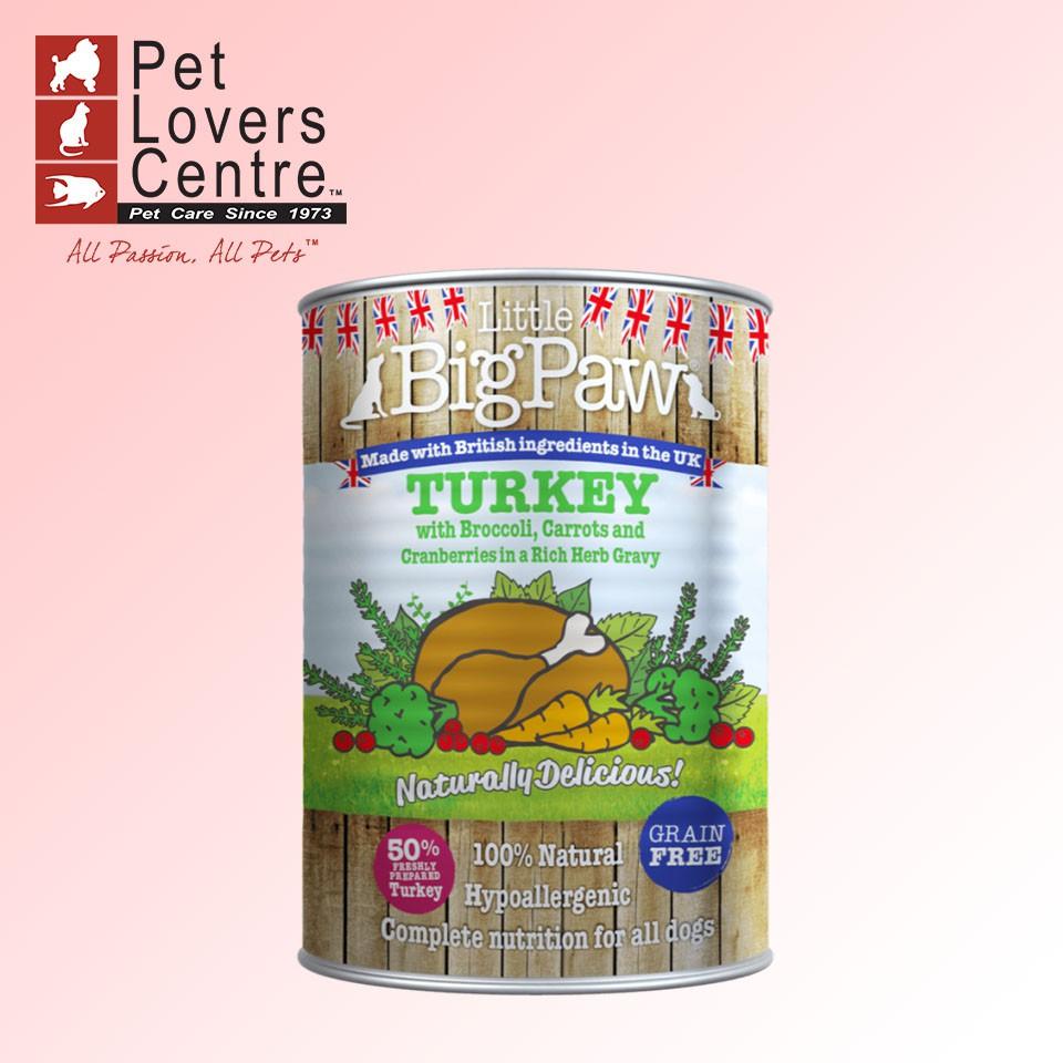 [xuất xứ Anh] Thức ăn ướt cho chó LITTLE BIG PAW TURKEY -CRANBERRIES, BROCOLLI, CARROT (HYPOALLERGENIC) 390g