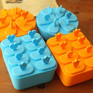 6/8 Cell Ice Pop Maker Mold Tray DIY Kitchen Reusable Frozen Ice Cream Mold
