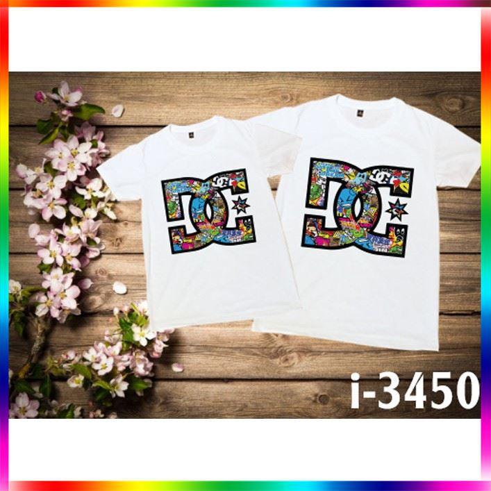 [SALE OFF 50%] I3450 Áo Thun Đôi In Họa Tiết Giá Siêu Rẻ , áo thun, áo thun nữ, áo thun trẻ em