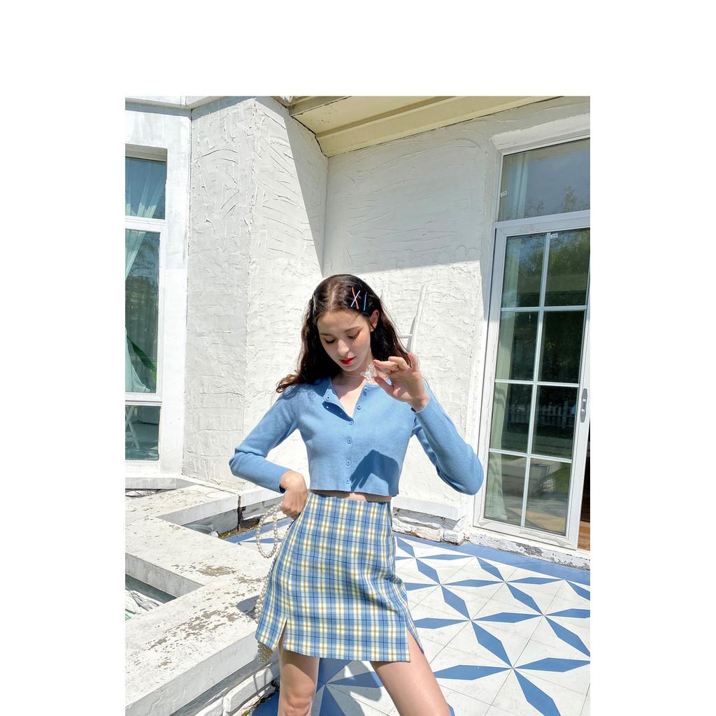 Chân Váy Xẻ  FREESHIP  Giảm 10k nhập mã [ VAY NGAN ]   Chân váy chữ A Hàn Quốc xẻ 2 bên trẻ trung năng động