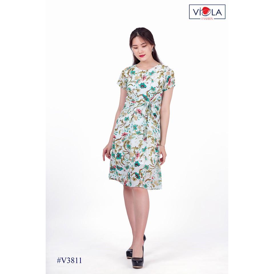[Viola]_ Váy đầm dáng ôm họa tiết_ V3811