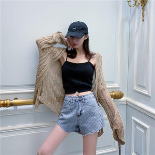 Hình ảnh Heavy hot lax summer bull-puncher knickers female ins the new European goods hole wide leg show thin pants tide