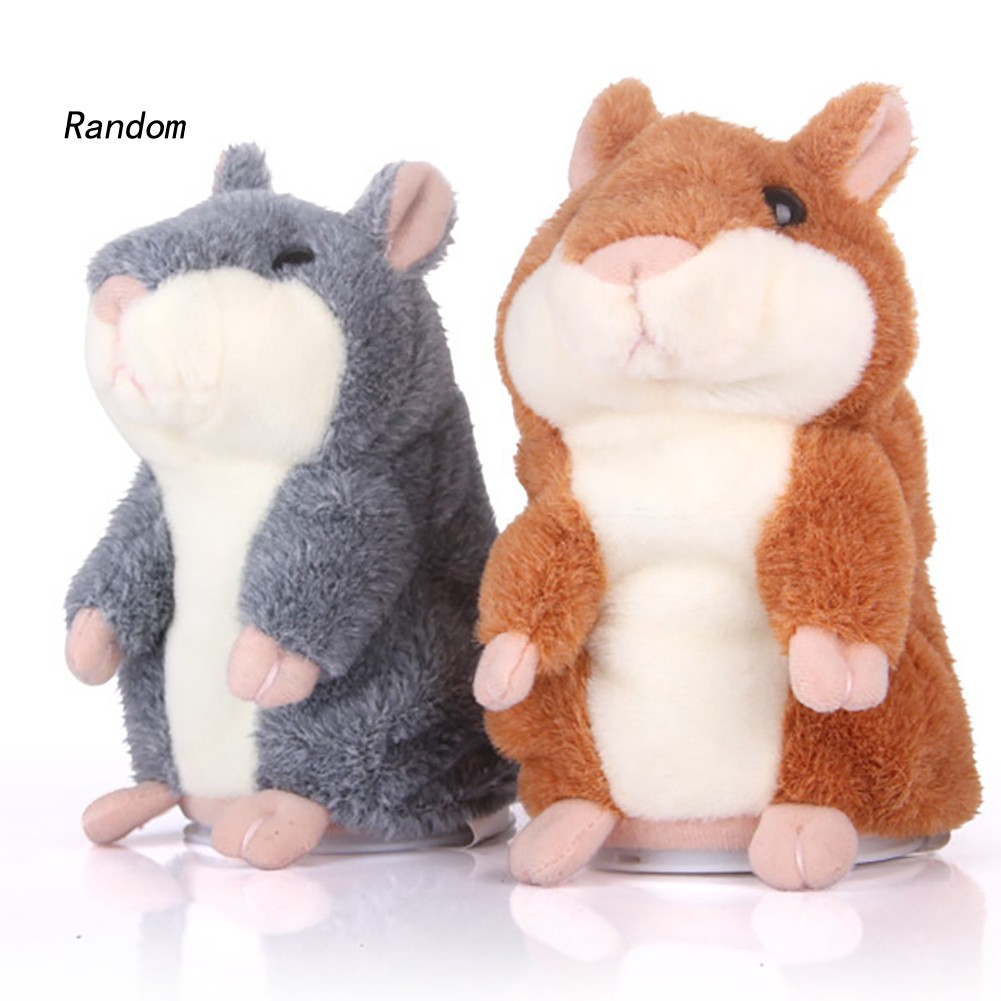 Talking Hamster Mouse Pet Plush Toy Cute Speak Sound Record Children Baby Gift