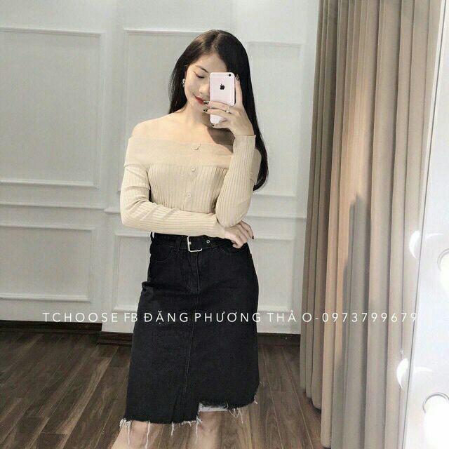 Chân váy jean(kèm ảnh thật)