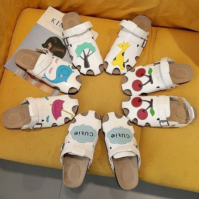 Sandal nữ in hình cherry hàng oder(ảnh thật cuối)