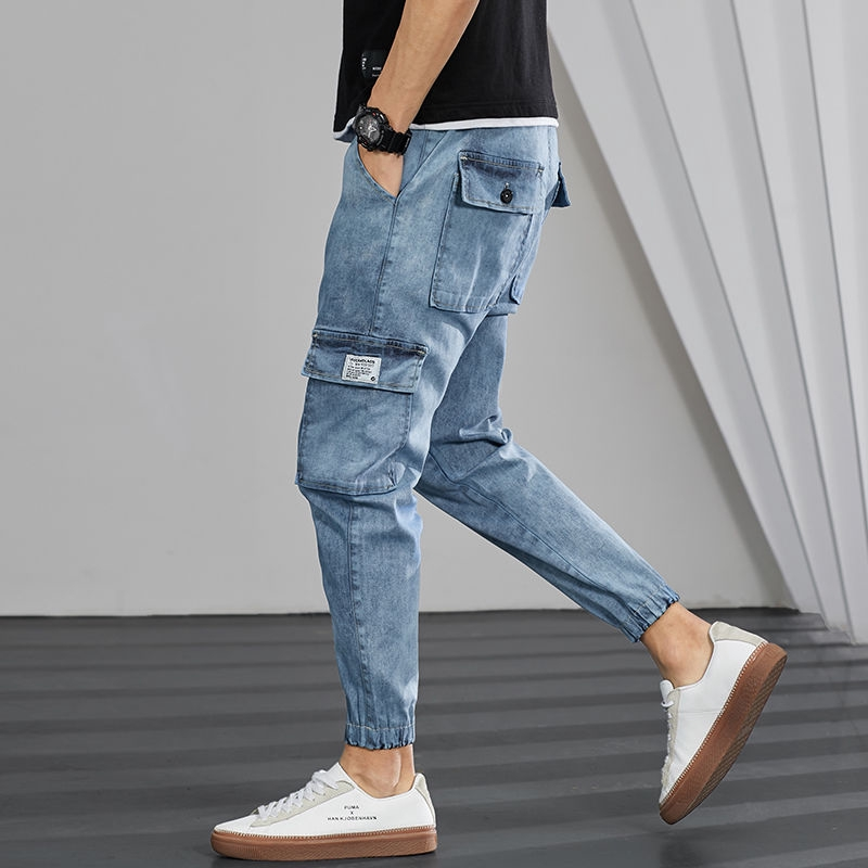 Quần Jeans Nam Lưng Cao Có Túi
