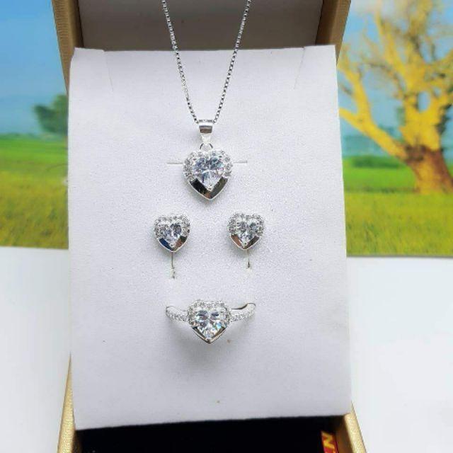 Bộ tim đá bạc