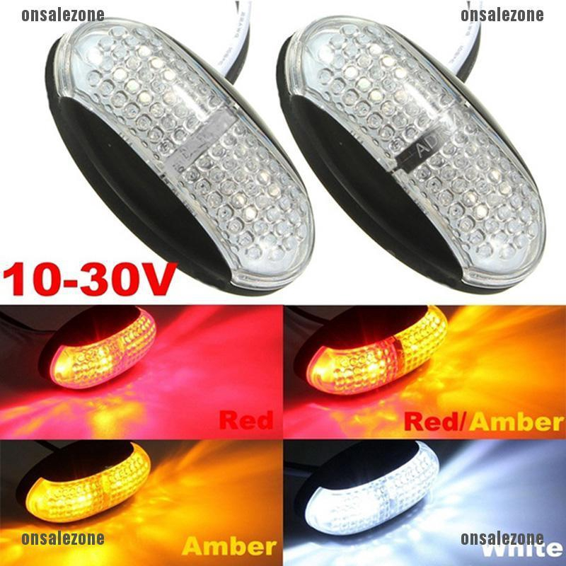 OZVN 12V/24V Car Trailer Truck Caravan RV Clearance Side Marker Indicator Light Lamp -onsalezone