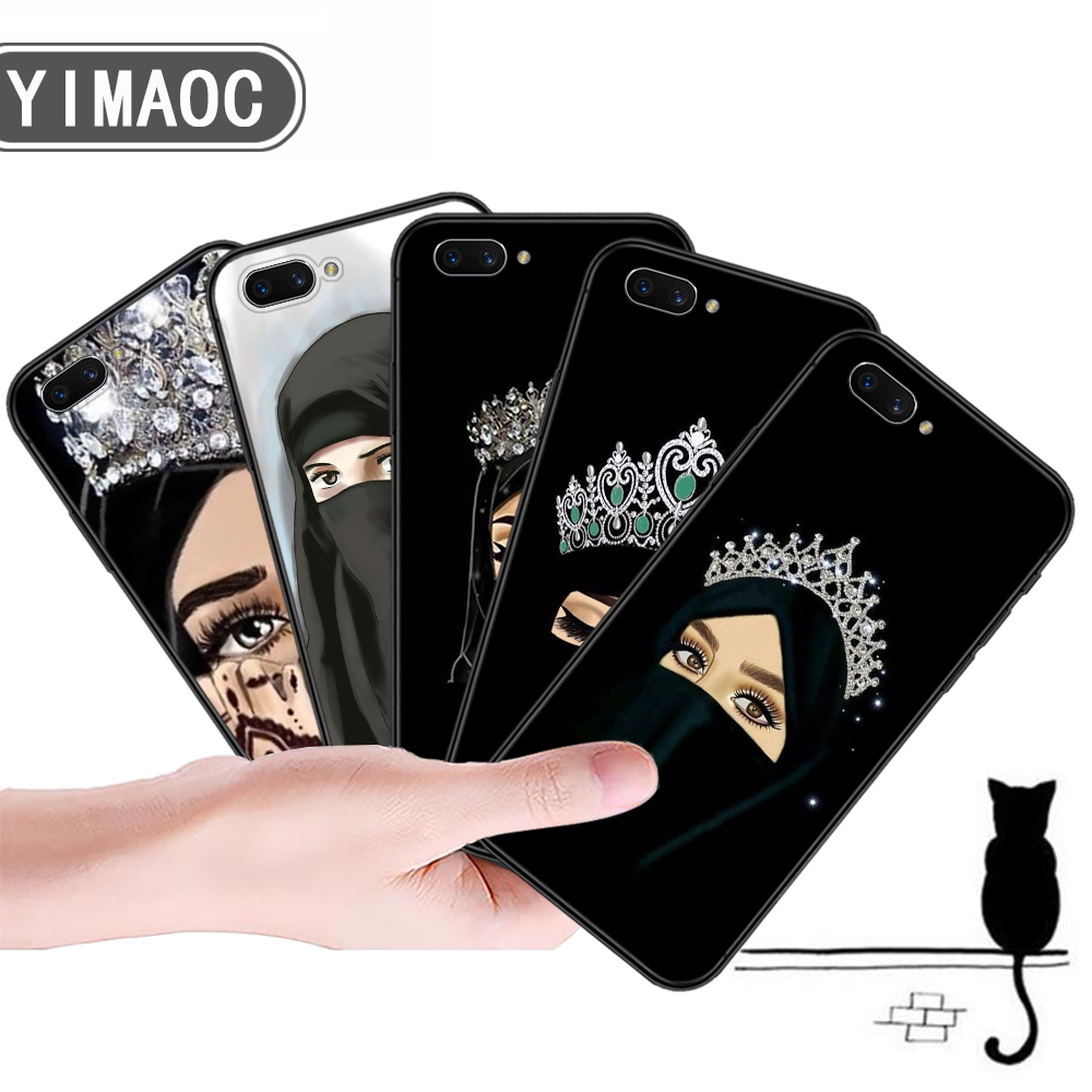 OPPO A3S A5 A37 A39 A5S A7 A59 F1S F3 A1 F5 F7 F9 Beautiful Muslim Women Soft Case