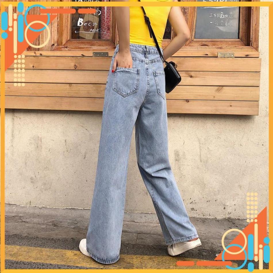 [SẴN] Quần Jeans nữ ống rộng Ulzzang Quảng Châu QD7