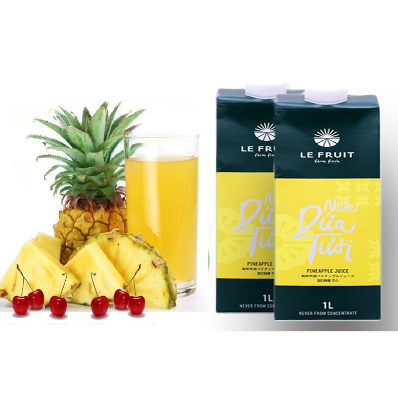 Nước ép trái cây dứa (thơm) tươi nguyên chất Le Fruit 1L