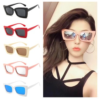 Vintage Eyeglass Sun Protection Sunglasses Square Frame Fashion Access