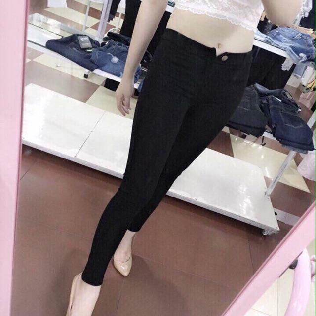Quần legging có cúc vải siêu xịn