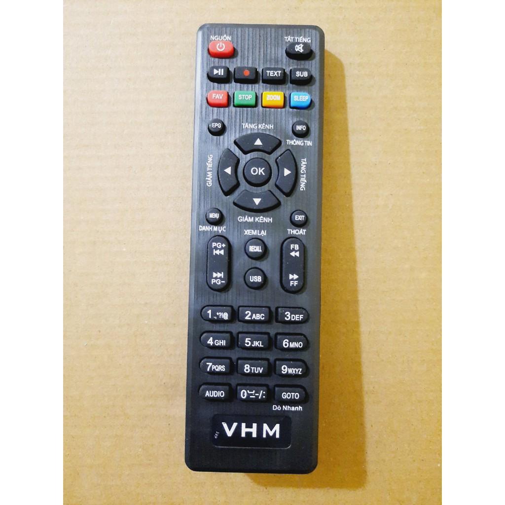 Remote Điều khiển đầu thu VŨ HỒNG MINH DVB T2 truyền hình mặt đất VHM- Hàng loại tốt Tặng kèm Pin!!!