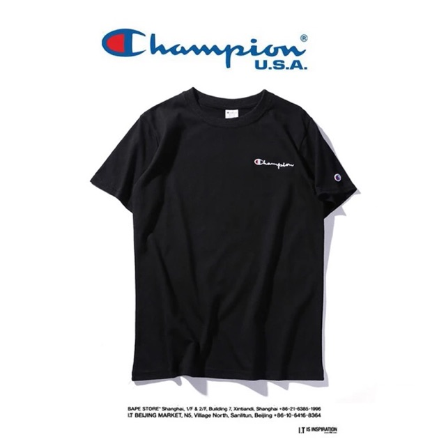 Champion tee in black
