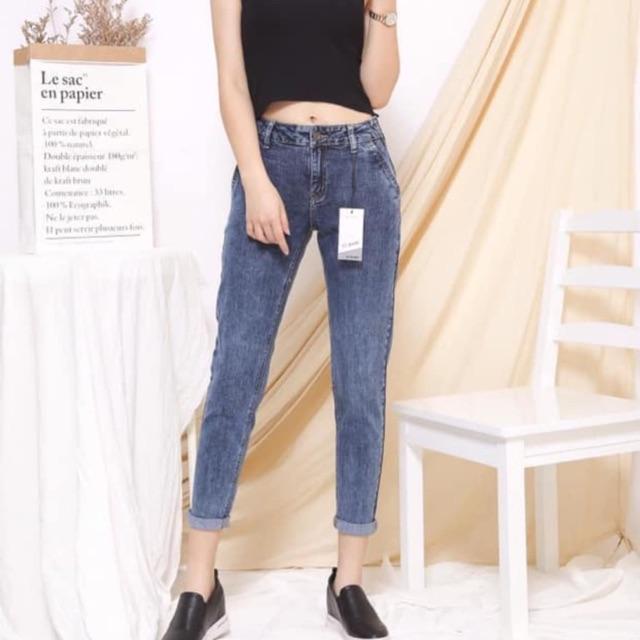 Quần jeans nữ chun eo
