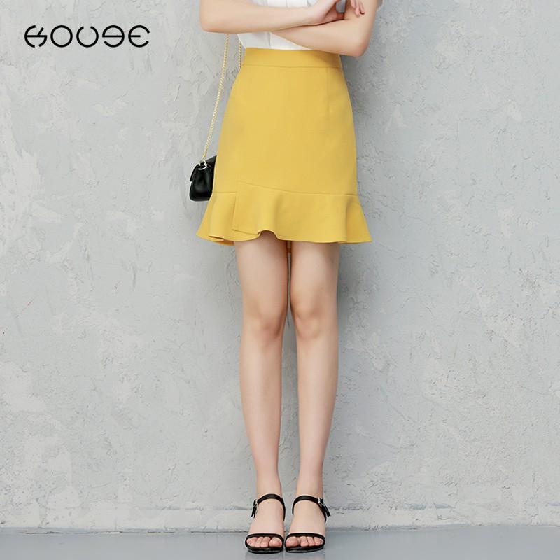Chân Váy Đuôi Cá Lưng Cao Thời Trang 2020 Xinh Xắn Cho Nữ