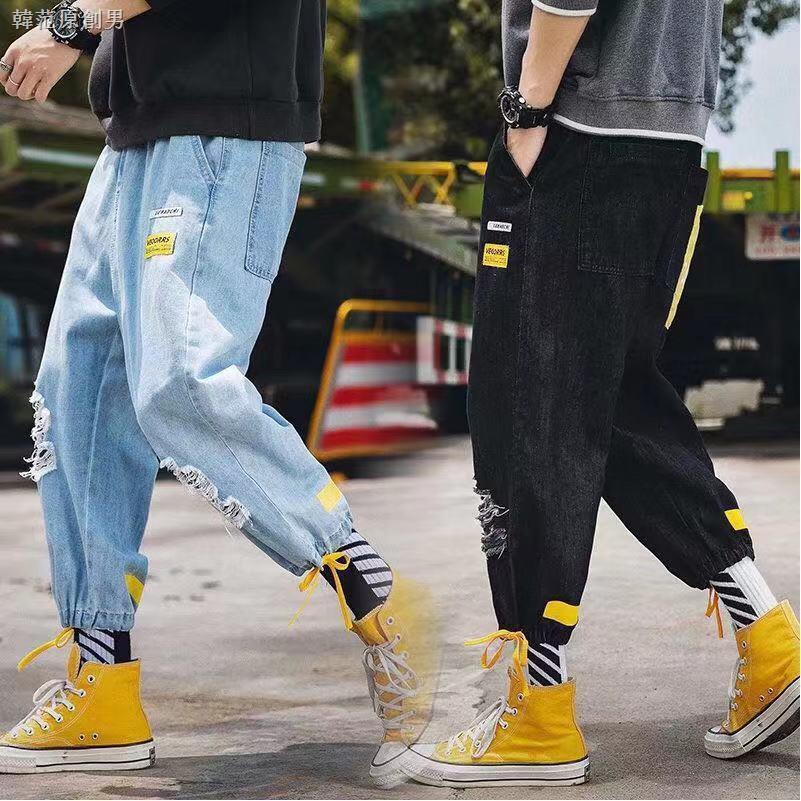 Quần Jeans Lửng Ống Rộng Thời Trang Năng Động Cho Nam