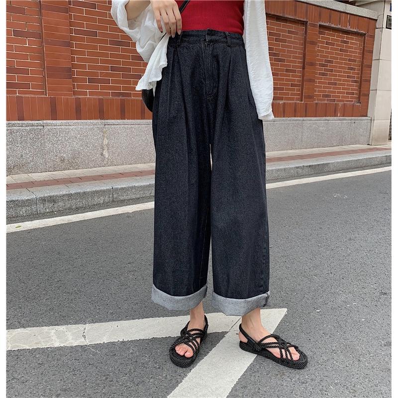 Quần jeans nữ lưng cao phong cách Hàn Quốc thời trang