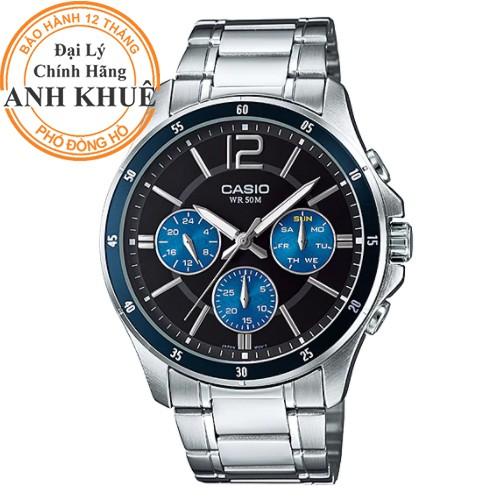 Đồng hồ nam dây kim loại Casio chính hãng Anh Khuê MTP-1374D-2AVDF