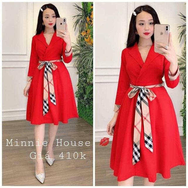 Đầm bigsize cổ vet 65-90kg (đỏ)