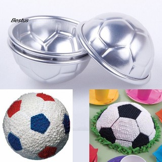 NAME 2Pcs Football Design Cooking Mold Bakeware Kitchen Bread Cake Decorate Tool