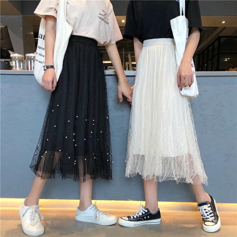 Giảm 5% tối đa 15k_Chân váy dài xếp ly Hàn Quốc (ORDER){ảnh thật}