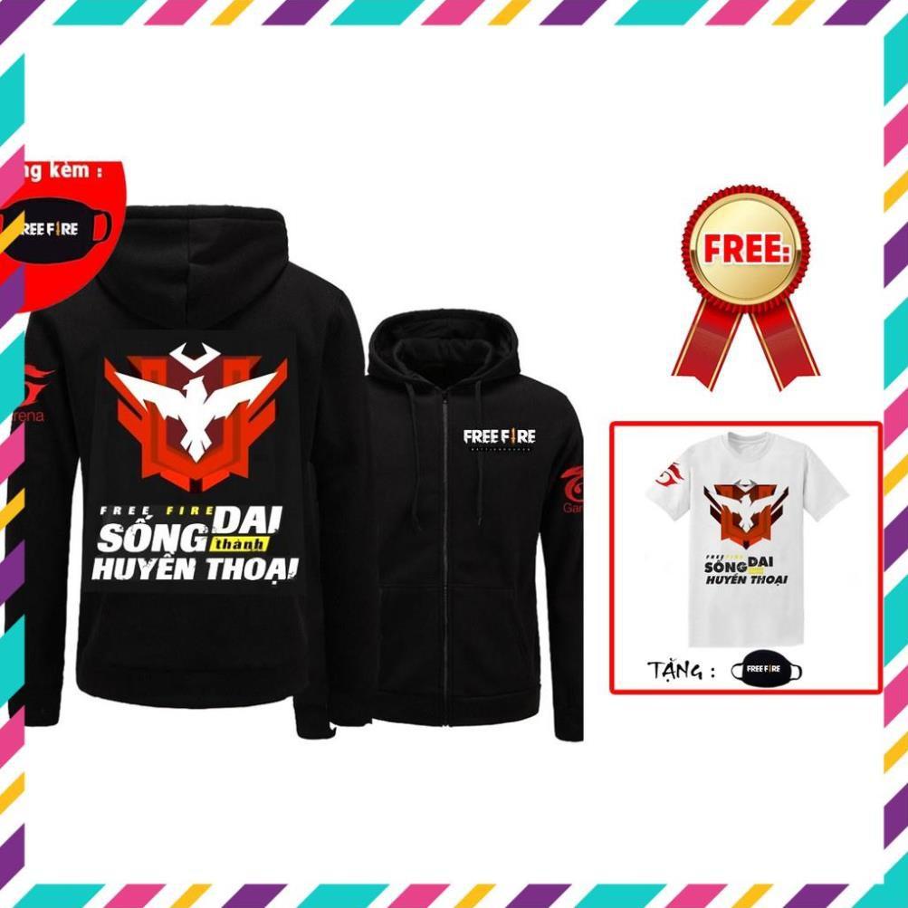 [KM Khủng ] Mua áo khoác Free Fire tặng kèm áo + bịt mặt freefire đẹp siêu ngầu giá rẻ nhất