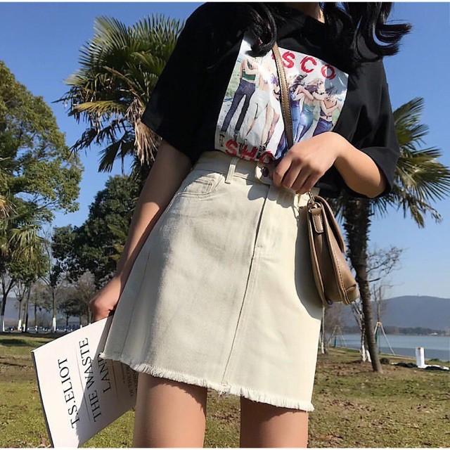 Ulzzang style Chân váy chữ A size S-5XL(Bigsize)