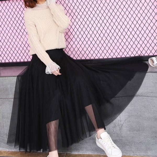 Chân Váy Dài Xếp Ly Xinh Xắn Cho Nữ Mùa Xuân 8m